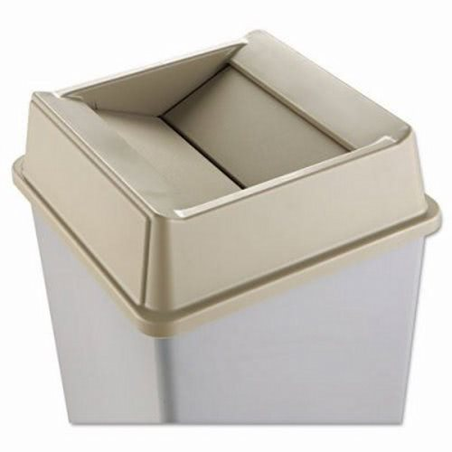 Rubbermaid 2664 Untouchable Square Swing Top Trash Can Lid Beige (RCP 2664 BEI)  sc 1 st  CleanItSupply.com : rubbermaid trash can storage  - Aquiesqueretaro.Com