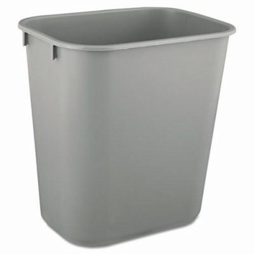 rubbermaid 2955 13 58 qt deskside plastic trash can gray rcp 2955 gra - Rubbermaid Trash Cans