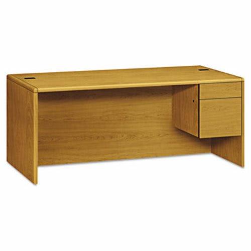 Hon 10700 Series Single 3 4 Right Pedestal Desk 72w X 36d 29 1 2h Harvest Hon10785rcc