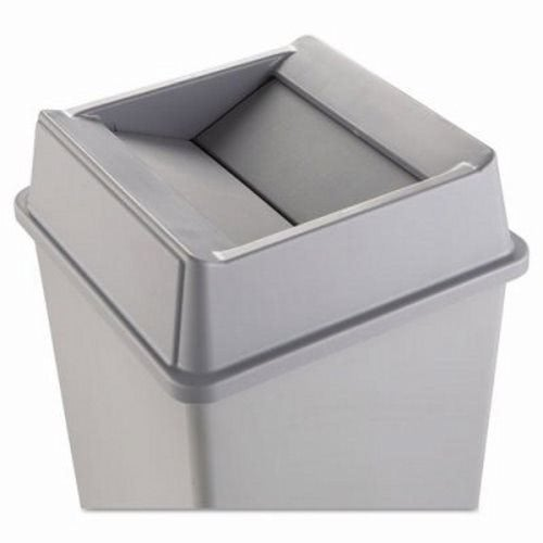 Rubbermaid 2664 Untouchable Swing Top Square Trash Can Lid Gray Rcp Gra