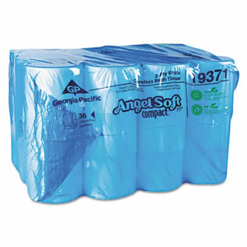 angel soft compact 2 ply coreless toilet paper 36 rolls gpc19371ct