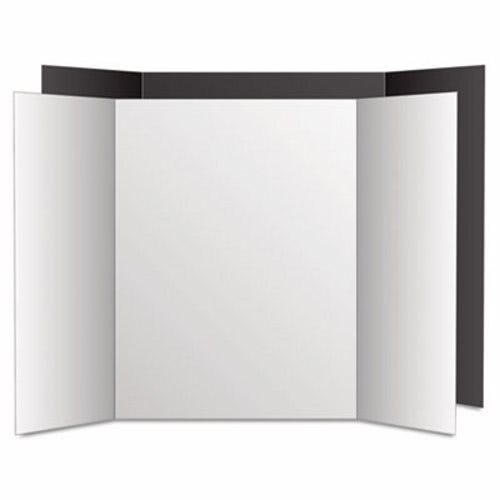 tri fold poster board eco brites too cool black white 6 pk geo27135