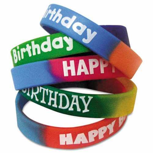 Hy Birthday Bracelet Wristbands Orted Colors 10 Pack Tcr6571