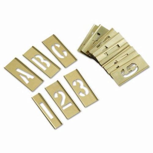 Ch hanson letter and number stencil set chh10071 for Metal stencil set letters