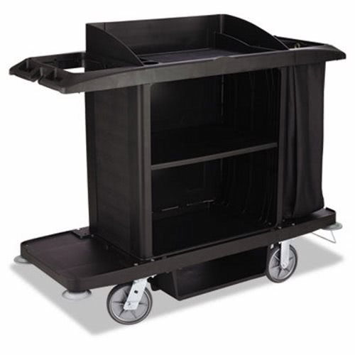 Rubbermaid 6189 Full Size Housekeeping Cart Black Rcp Bla