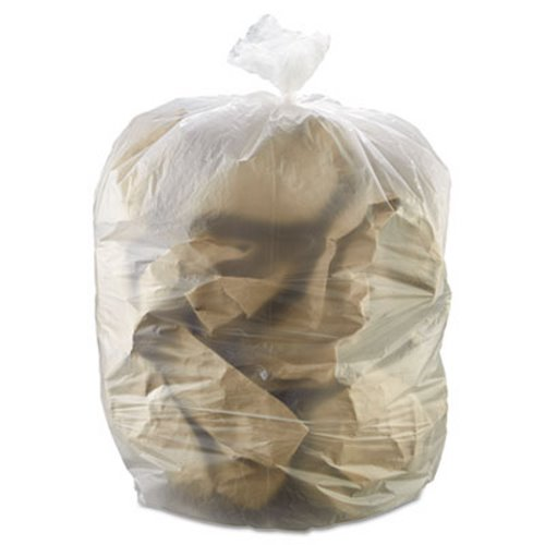 55 Gallon Clear Trash Bags 36x60 17mic 200 Ibss366017n