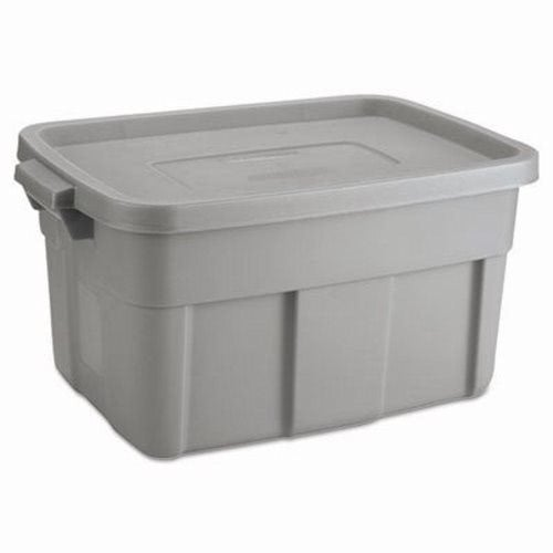 rubbermaid roughneck 14 gallon storage container steel gray