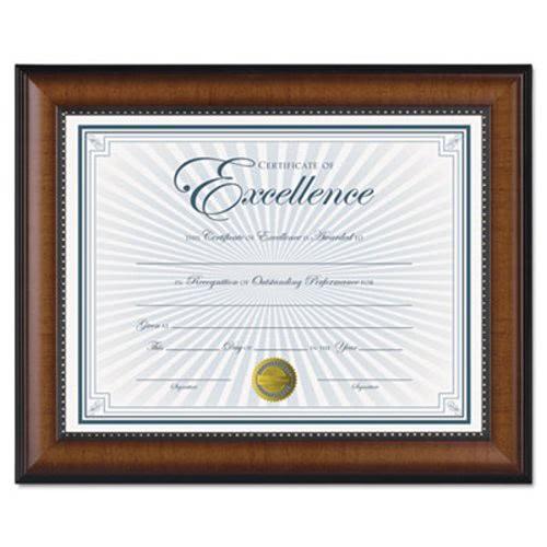 Dax Prestige Document Frame, Walnut/Black, Gold Accents, Certificate ...