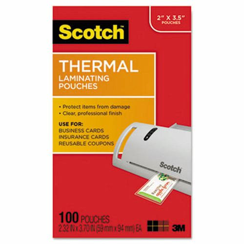 Scotch Business Card Size Thermal Laminating Pouches 5