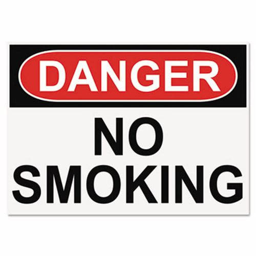 Headline Sign OSHA Safety Signs, DANGER NO SMOKING, 10 x 14 (USS5484)