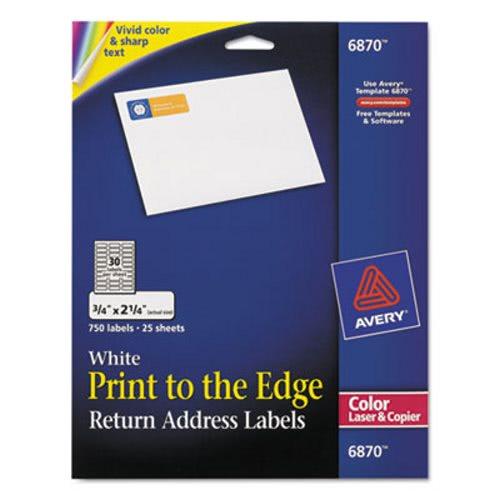 avery return address labels for color laser copier 3 4 x 2 1 4