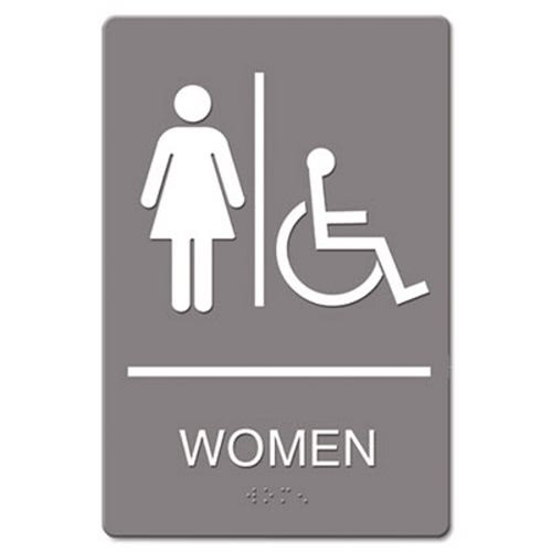 Headline Sign Ada Sign Women Restroom Wheelchair