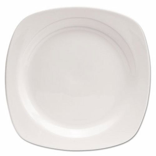 Office Settings Chefu0027s Table Porcelain Square Plate White 8/Box (OSICTS1)  sc 1 st  CleanItSupply.com & Office Settings Chefu0027s Table Porcelain Square Dinnerware Plate 10 ...