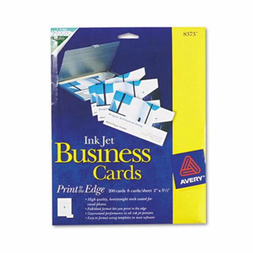 Avery inkjet glossy business cards 2 x 3 1 2 white 8 for Inkjet business cards