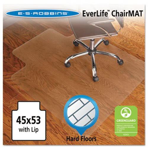 Es Robbins 45 X 53 Lip Chair Mat For Hard Floors Clear Esr131823