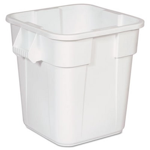 Rubbermaid Commercial Brute Square Containers, 28 Gal, White (RCP3526WHI)