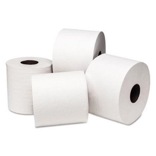 bathroom tissue. Wausau Paper DublNature Universal Bathroom Tissue, 2-Ply, 48 Rolls (SCA245949) Tissue