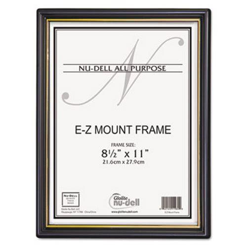 Nu-dell EZ Mount Document Frames, Plastic, 8-1/2 x 11, Black, 18 ...