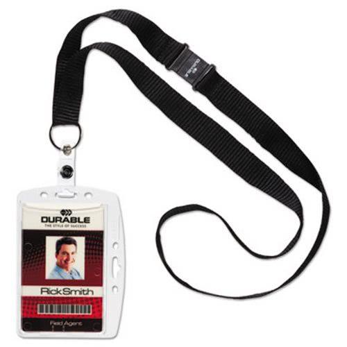 durable id card holder verticalhorizontal wnecklace 10 holders dbl826819 - Id Card Holder