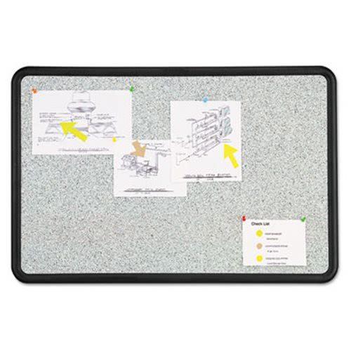 Quartet Contour Granite-Finish Tack Board, 48 x 36, Black Frame ...