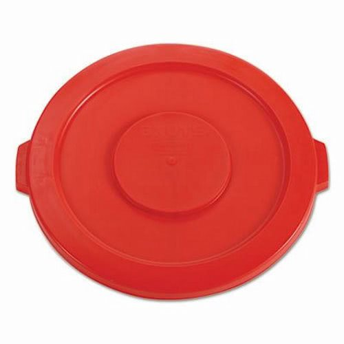 rubbermaid brute 32 gallon round trash can lid red rcp red