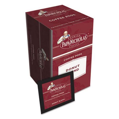Papanicholas Coffee Premium Coffee Pods, Donut Blend, 0 75 oz, 18/Box  (PCO85106)