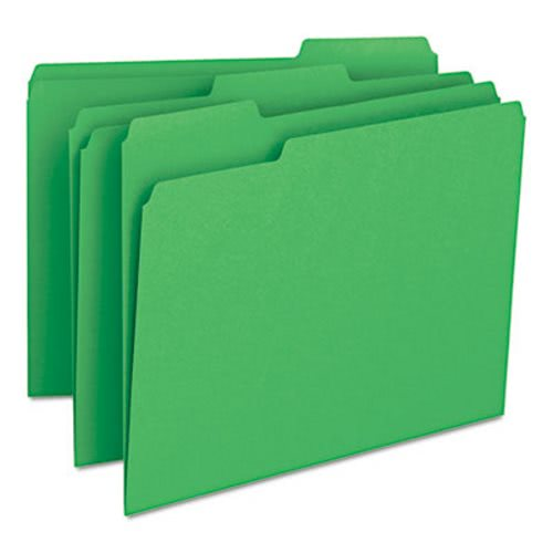 Smead File Folders, 1/3 Cut Top Tab, Letter, Green, 100/Box (SMD12143)