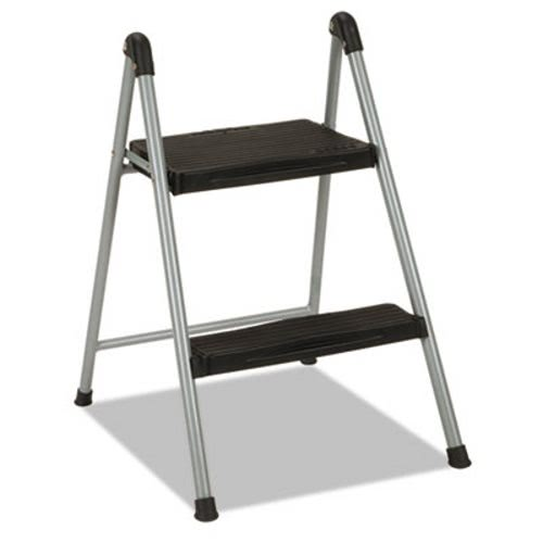 Fabulous Cosco Folding Step Stool 2 Step 16 9 10 H Platinum Black Csc11024Pbl1E Squirreltailoven Fun Painted Chair Ideas Images Squirreltailovenorg