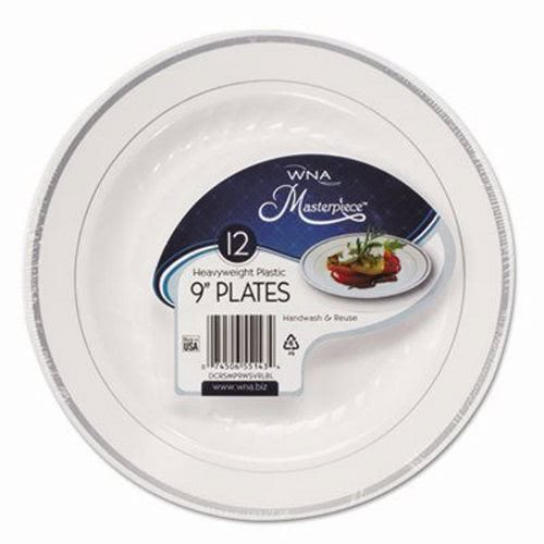 WNA Masterpiece Plastic Plates White/Silver 9  10 Plates (WNARSM91210WSPK)  sc 1 st  CleanItSupply.com & Wna Masterpiece Plastic Dinnerware WNARSM91210WSPK