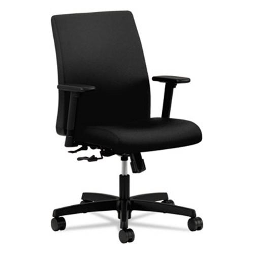 Hon Ignition Series Low Back Task Chair, Black Fabric Upholstery  (HONIT105CU10)
