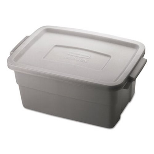 Rubbermaid Roughneck 3 Gallon Storage Box, Steel Gray (UNXRMRT030007)