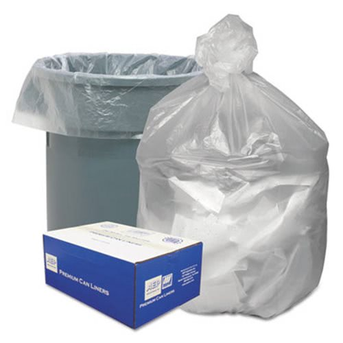 High Density Waste Can Liners 40 45 Gal 10 Mic 40 X 46 Natural 250 Carton Wbignt4048