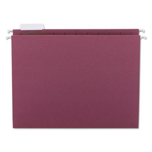 Universal One Hanging File Folders 1//5 Tab 11 Point Stock Letter Violet 25//box
