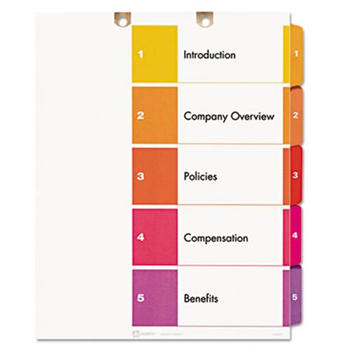 avery preprinted tab dividers for classification folders ave13156