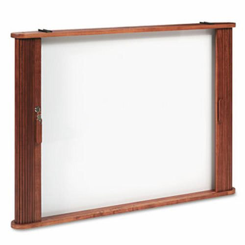 Genial Conference Room Cabinet, Magnetic Dry Erase Board, 44 X 4 X 32, Oak  (BLT25010)