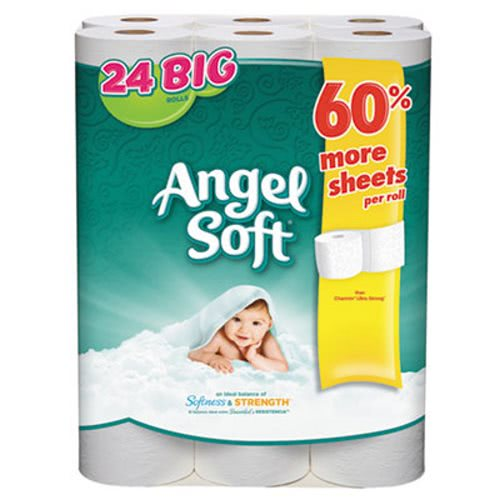 Angel Soft 77239 Standard 2 Ply Toilet Paper 24 Rolls
