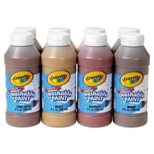 crayola multicultural washable paint pack 8 assorted colors 8 oz
