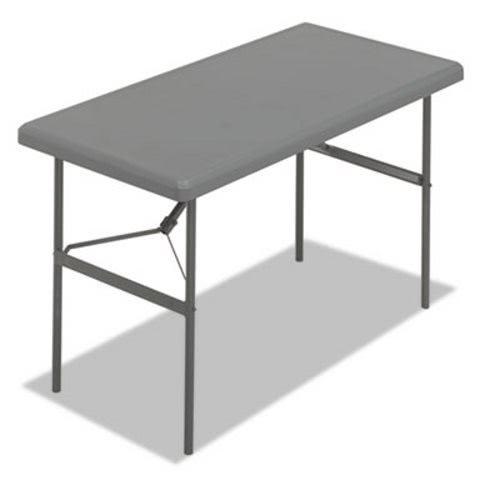 Iceberg 1200 Series Resin Folding Table, 48w X 24d X 29h, Charcoal  (ICE65207)