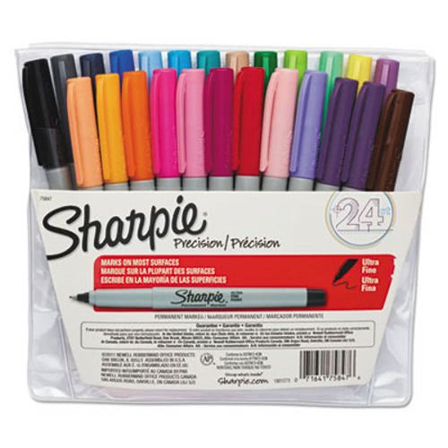 Sharpie 75847 Ultra Fine Permanent Markers Assorted 24 Markers San75847