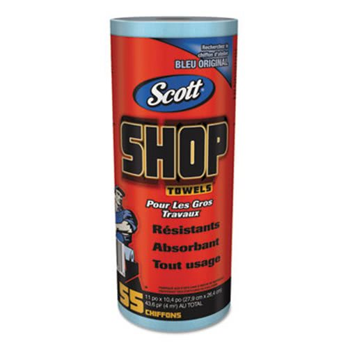 Scott Lint Free Paper Towels: Scott 75147 Shop Towels, Blue, 12 Rolls KCC75147