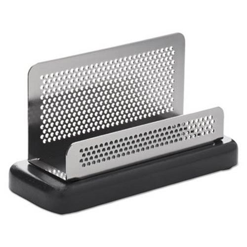 Rolodex distinctions business card holder capacity 50 2 14 x 4 rolodex business card holder capacity 50 cards metalblack role23578 colourmoves