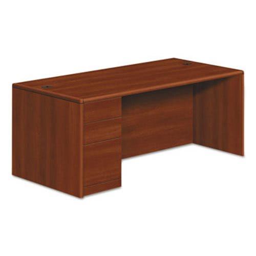 Hon 10700 Series Single Pedestal Desk Full Left 72 X 36 29 1 2 Cognac Hon10788lco
