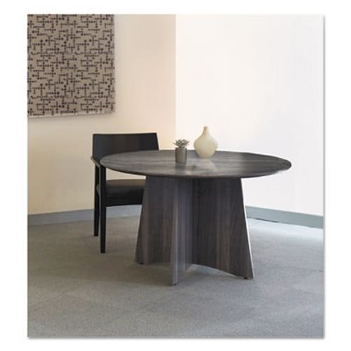 Mayline Medina Laminate Conference Table, 48 Dia. X 29 1/2h, Gray Steel  (MLNMNCR48LGS)