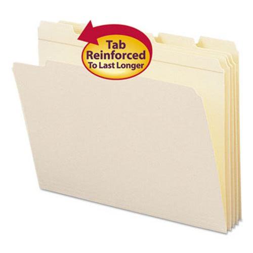 Smead File Folder 1//3 Cut First Position Reinforced Top Tab Letter Manila 100