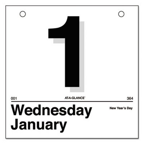 at a glance today is daily wall calendar refill aagk150