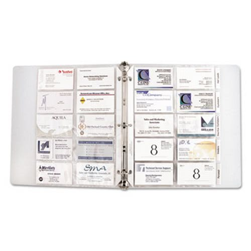 C Line Business Card Binder Pages