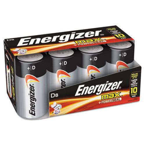 Energizer MAX Alkaline D Batteries 1 5 V 8 Batteries EVEE95FP8