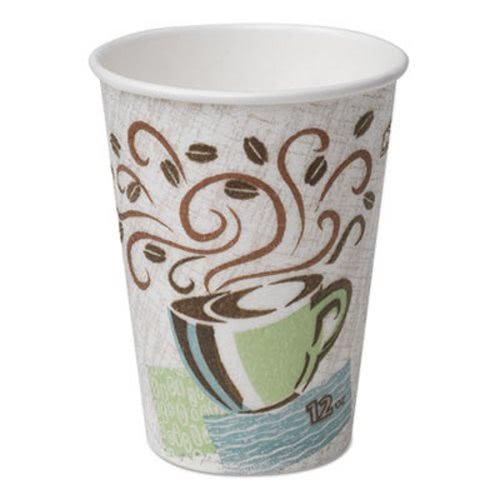 Dixie Hot Cups Paper 8 Oz Coffee Dreams Design 50 Pack Dxe5338cdpk
