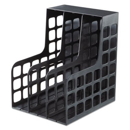 "3 X 9 1//2 X 12 1//2 Black/"" /""Pendaflex Decofile Plastic Magazine File"
