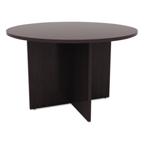 Alera Valencia Round Conference Table WLegs ALEVAES - Espresso conference table